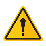 Danger warning exclamation point sign icon. Exclamation point icon danger button and attention warning sign. Attention security alarm symbol. Danger warning Stock Photos