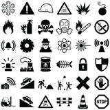 Danger and Warning icon. Collection -  illustration Royalty Free Stock Images
