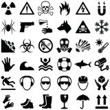Danger and Warning icons Royalty Free Stock Images