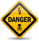 Danger warning sign. Illustration of danger warning sign Royalty Free Stock Photography