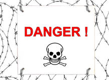 Danger ! Royalty Free Stock Photography