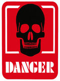 DANGER OF DEATH - Hazard Warning Sign Royalty Free Stock Photos