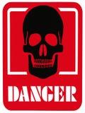 DANGER OF DEATH - Hazard Warning Sign. Hazard sign - DANGER OF DEATH warning sign Royalty Free Stock Photos