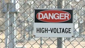 Danger Warning Sign stock video footage