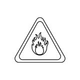 Danger and warning sign. Icon  illustration graphic design Royalty Free Stock Image
