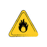 Danger and warning sign. Icon  illustration graphic design Royalty Free Stock Photography