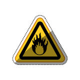 Danger and warning sign. Icon  illustration graphic design Stock Images