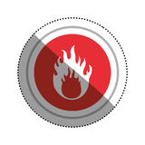 Danger and warning sign. Icon  illustration graphic design Stock Photo