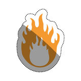 Danger and warning sign. Icon  illustration graphic design Stock Photography