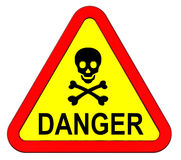 Danger warning sign isolated on white Royalty Free Stock Image