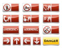 Danger warning sign mini set Stock Image