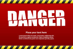 Danger warning sign template for your text. With alert color Royalty Free Stock Photography