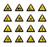 Danger warning sign. On white background Stock Images