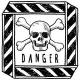 Danger warning sketch Royalty Free Stock Photos