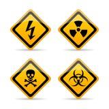 Danger warning vector sign Stock Photos