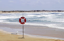 Danger, Water Sports, Drowning, Sand Beach, Sunny Day Stock Photo