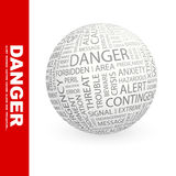 DANGER. Royalty Free Stock Photos