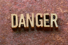 Danger word rust Royalty Free Stock Photography