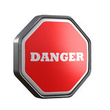 Danger word in sign Royalty Free Stock Photo