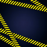 Danger yellow tape grunge background Royalty Free Stock Photography