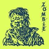 Danger zombie. Vector illustration. Stock Photography