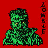 Danger zombie. Vector illustration. Royalty Free Stock Photography