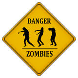 Danger zombies Royalty Free Stock Photography