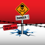 Danger zone royalty free illustration