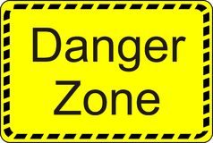 Danger Zone Royalty Free Stock Images