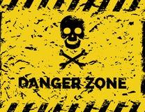Danger zone grunge background Stock Photo
