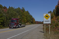 Danger Zone Highway Royalty Free Stock Image