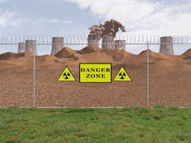 Danger zone for the human health Stock Images