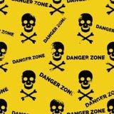 Danger zone seamless pattern Stock Image