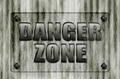 Danger Zone sign board Royalty Free Stock Photos