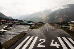 Dangerous Airport Strip - Lukla - Nepal. Dangerous Airport Strip in Lukla - Nepal Stock Photos
