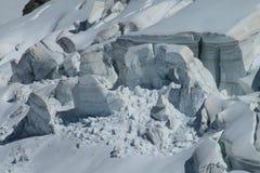 Dangerous Apline glacier Royalty Free Stock Photography