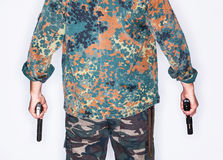 Dangerous armed killer Stock Photo