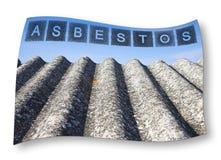 Dangerous asbestos roof.  Stock Image