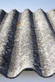 Dangerous asbestos roof Royalty Free Stock Image