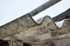 Dangerous asbestos roof - Medical studies have shown that the as Stock Photography