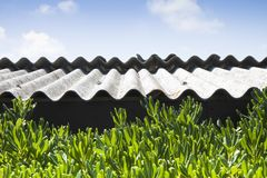 Dangerous asbestos roof Royalty Free Stock Photos