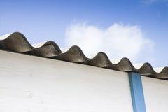 Dangerous asbestos roof Royalty Free Stock Photo