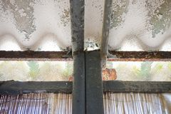 Dangerous asbestos roof Stock Photography