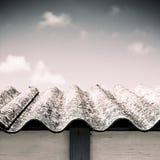 Dangerous asbestos roof Stock Photo