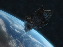 Dangerous asteroid Royalty Free Stock Image