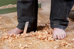 Dangerous Barefoot Royalty Free Stock Photography