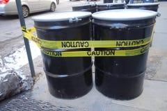 Dangerous Barrels Stock Photos