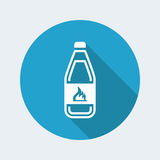Dangerous bottle icon. Vector illustration of single isolated dangerous bottle icon Royalty Free Stock Photos