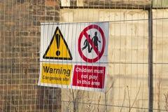Dangerous building sign warning Royalty Free Stock Image
