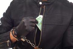 Dangerous burglar in black Royalty Free Stock Images